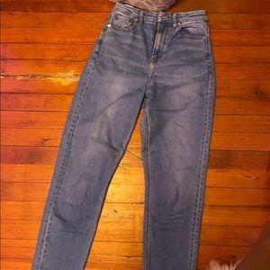 American Eagle mom jeans,curvy,stretch,